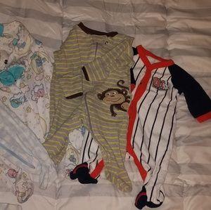 Lot of newborn boy pajamas